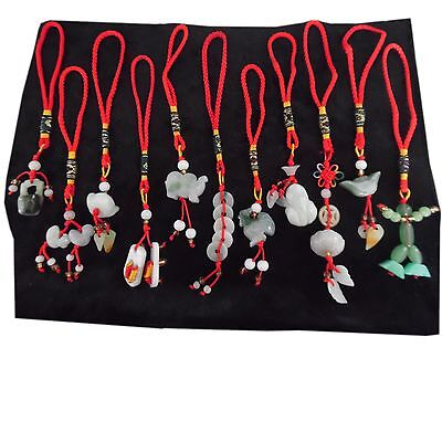 Chinese Jade Feng Shui Charms For Luck, Health & Wealth, Love, Protection
