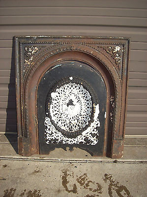 Arched cast iron fire front decorative  (F 06)