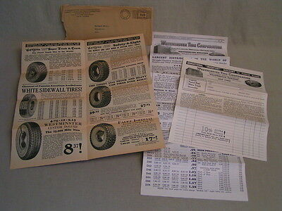 1933 Vintage Westminster Tire Corp. Ny Advertising Mailer Brochure Flyers -Mint!