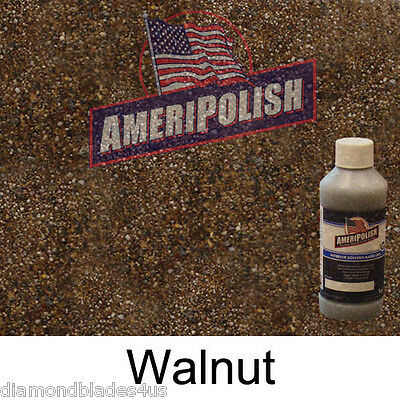 1 GL. Walnut  CONCRETE COLOR DYE 4 CEMENT, STAIN AMERIPOLISH Solvent based