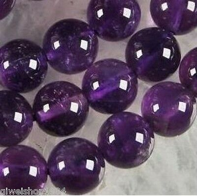 10mm Russian Amethyst Gems Round Loose Bead 15''