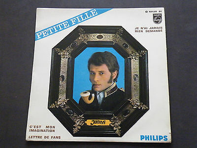 Ep 45T Johnny Hallyday/petite Fille /   (3A016)