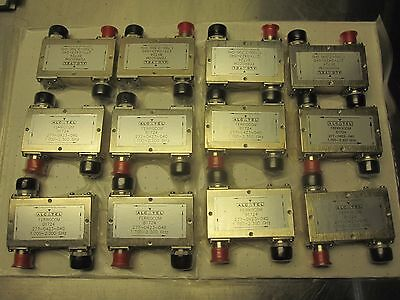 Lot of 12 Alcatel Ferrocom B1724 Coaxial Isolator Coupler N-type 1.70 to 2.30Ghz