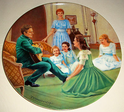 Rodgers & Hammersteins SOUND OF MUSIC Classic Movie EDELWEISS Plate Orig Bx+COA
