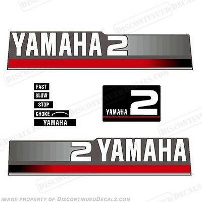 Yamaha 1997 2hp Outboard Decal Kit - Discontinued Decal Reproductions in Stock!