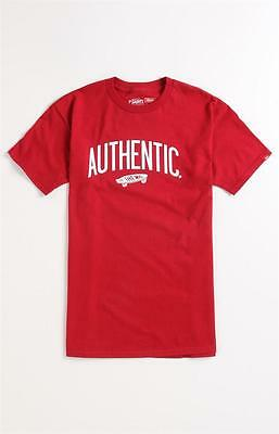61b24560a0 VANS OFF THE Wall Skateboard Authenticity Tee Mens Red T-Shirt New ...