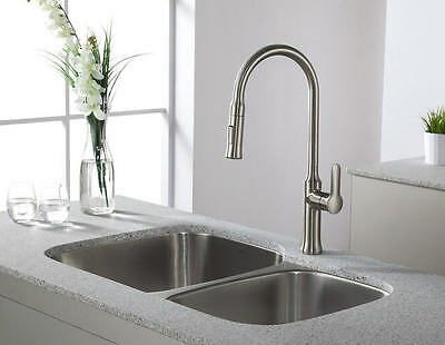 Solid Brass Kitchen Bar Pull-out Faucet - KF003B - Free Shipping in Canada