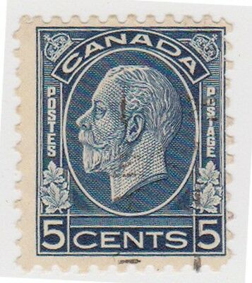 Stamp (CA82) 1932 CANADA 5c Blue George V ow323