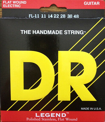 DR FL-11 Electric Guitar strings Legend flat wound extra light 11-48