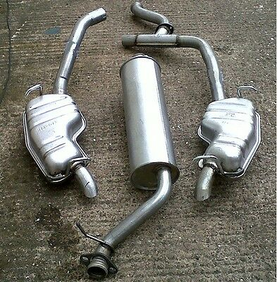 RANGE ROVER P38 2.5TDi DSE CENTRE & TWIN REAR EXHAUST BOXES 97-02