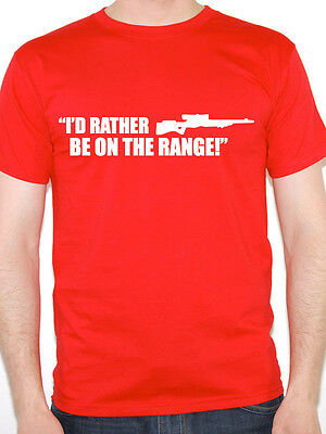 Novelty Themed Mens T-Shirt Shooting Hunting I/'D RATHER BE ON THE RANGE