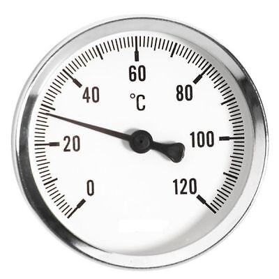 "60/100mm 0-120C Thermo Water Oil Temperature Gauge 1/2"" Rear Entry Thermometer"