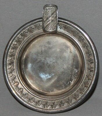 Vintage Small Spanish Ornate Silverplated Ashtray
