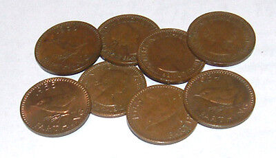 Great Britain/UK 1953 - 1956 - Elizabeth II Bronze Farthings - Select Date