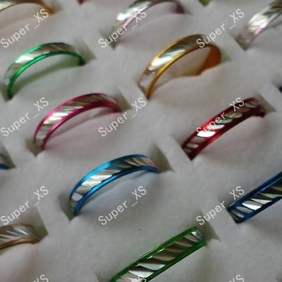 200pcs wholesale multicolor aluminum alloy rings women jewelry new free shipping