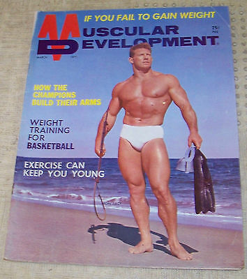 VINTAGE BEEFCAKE! MARCH 1971 MUSCULAR DEVELOPMENT MAGAZINE