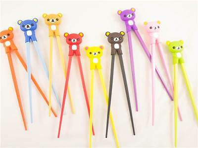 Childrens Learning Chopsticks Chinese Teddy Bear Character Various Colours New