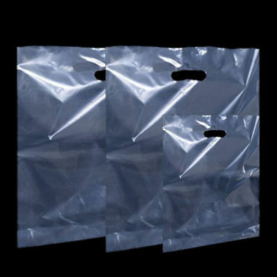 Clear Plastic Carrier Bags Party Gift Bags ***Choose Size and Quantity***