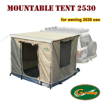 G Camp Mountable Tent 2.5M X 3M Awning Roof Camper Trailer 4Wd 4X4 Camping Free
