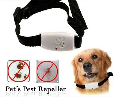 Animal Dog Pest Repellent Treatment Collar Fleas Tick Mosquito + Free Batteries