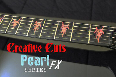 Goat Head B.C. Rich RED PEARL Fret Marker Inlays Sticker Decal for BASS & GUITAR