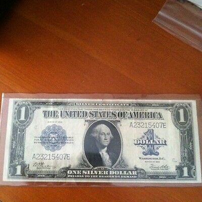 Silver Dollar Bill 1923 With Love Letter