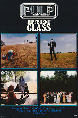 POSTER - MUSIC: PULP - DIFFERENT CLASS - FREE SHIPPING !  #6507 RC34 M