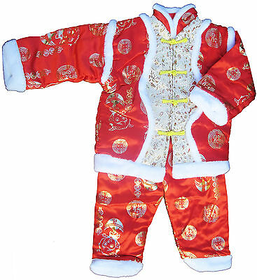 New Chinese baby out-fit, warm and padded, 1-2T