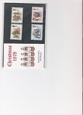 1978 Royal Mail Presentation Pack Christmas Mint Decimal Stamps