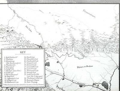 ICE MERP Tolkien RPG Middle Earth The Grey Mountains MAP ONLY!