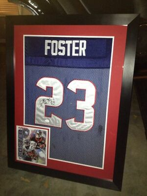 Arian Foster Autographed Framed Jersey Houston Texans