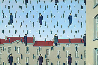 """Rene_Magritte.GLOCONDE 1953.ART. Reproduction 24""""x 34"""" LARGE CANVAS-PRINT"""