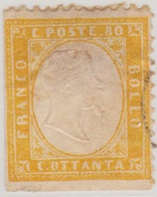 (IT09)1862 Italy 40c Red, 80c & 2c Yellow ow3,4a, N5