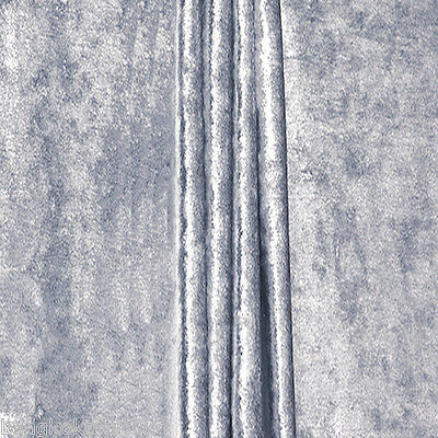"""Silver Gray Crushed Panne Velour Velvet 2 Way Stretch Fabric 58""""W By Yard"""