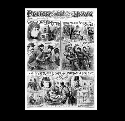 Dollshouse Miniature Newspaper - Illustrated Police News 1892 Jack the Ripper