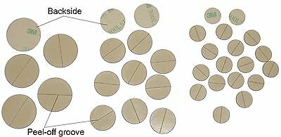 3M 300LSE disks/circles of super-strong double-sided adhesive, various sizes