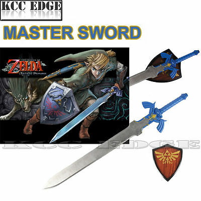 "37.5"" LARGE FULL SIZE The Legend of Zelda Link's Master Hylian Sword w/ Plaque"