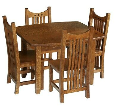 Kids Table And Chairs Set Solid Wood Wooden Amish Children