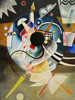 "Wassily Kandinsky.Abstract 3. Art Reproduction 22""x 28"" PRINT-CANVAS"