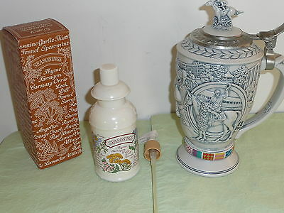 Avon Winner's Circle Stein Horse Jockey & Avon Country Kitchen Vntg Lotion Pump