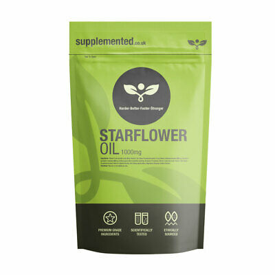 STARFLOWER / BORAGE OIL CAPSULES 1000MG 180 CAPS ✔UK Made ✔Letterbox Friendly