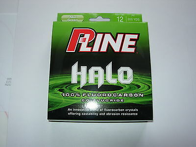 P-LINE HALO FLUOROCARBON Fishing Line MIST GREEN ALL SIZES 200yds