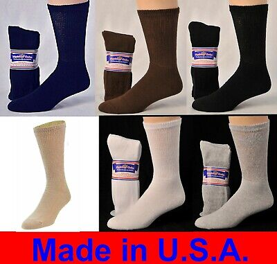 Diabetic Cushioned Crew Socks 3, 6 or 12 Pair Men's / Women's /Ladies Sizes 9-15