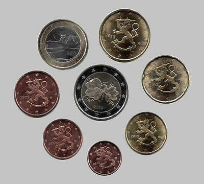 Finland 2013 - Set of 8 Euro Coins (UNC)