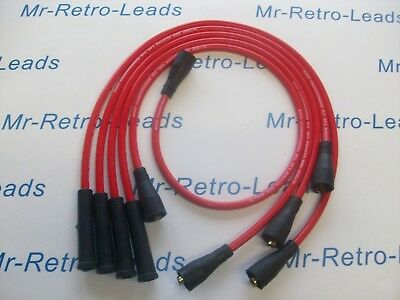 Red 8Mm Performance Ignition Leads For Scirocco Corrado Polo Quality Ht Leads