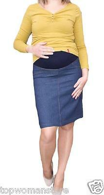 Top Woman Maternity Short Skirt Jeans Over Bump Pregnancy Clothes  Size 8 to 16