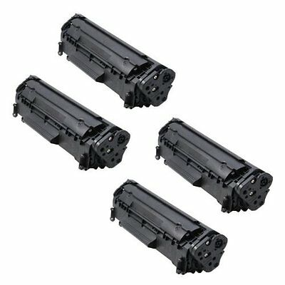 4PK New Q2612A Non-OEM HP 12A Toner Cartridge LaserJet 1018 1020 3015 3020 3030