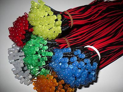 30 Pcs Pre Wired 5mm Diffused LED 12V DC : RED ORANGE YELLOW GREEN BLUE WHITE