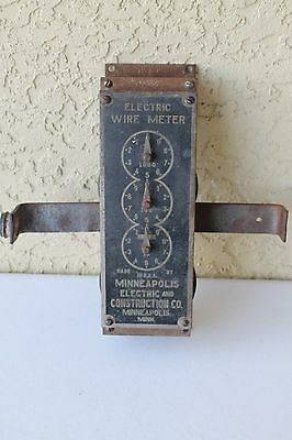 C1930 Minneapolis Electric & Construction Co Electric Wire Meter Machine Nr