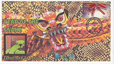 Jvc Cachets -2013 Lunar Year Of The Snake Holiday Topical First Day Cover Fdc #2